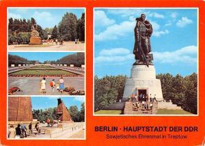 Berlin Hauptstadt der DDR Sowjetisches Ehrenmal in Treptow Denkmal Statue