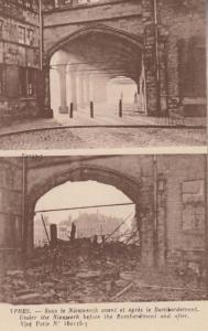 Ypres Belgium Under Nieuwerk Nieuwerck WW1 War Bomb Bombardment Damage Postcard