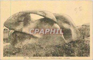 Old Postcard Ploumanach C N Rocks strange Rabbit