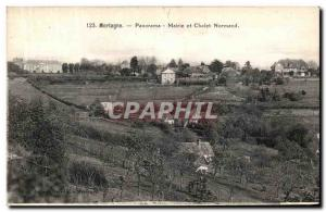 Old Postcard Panorama Mortagne Mairet and Chalet Normand
