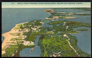 31620) Florida Aerial TREASURE ISLAND looking North Greater Gulf Beaches - LINEN