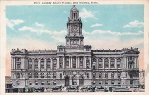 Iowa Des Moines Polk County Court House
