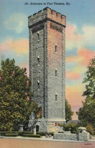 Postcard Entrance to Fort Thomas Kentucky