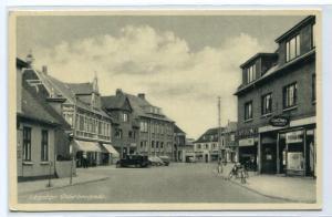 Osterbrogade Street Scene Logstor Denmark 1954 postcard
