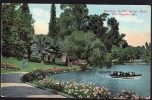 California LOS ANGELES Boating in Hollenbeck Park - DB  Van Ornum Colorprint co.