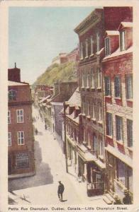 Petit Rue Champlain, Quebec , Canada , PU-1949