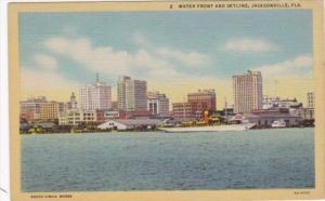 Florida Jacksonville Water Front and Skyline Curteich Curteich