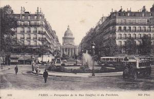 France Paris Perspective de la Rue Soufflot et du Pantheon