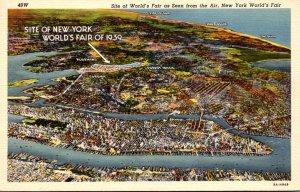 New York World's Fair 1939 Aerial View Curteich