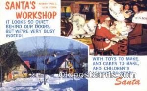 North Pole New York, USA Santa Claus Postcard, Chirstmas Post Card Old Vintag...