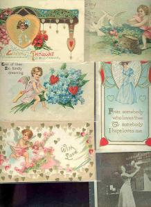 pc6981 postcard Loving Thought Love SIX 5 used 1 not