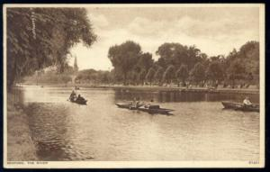 bedfordshire, BEDFORD, The River, Rowing Boats (1940s) (2)