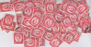 Queen Elizabeth II 2 and Half D 100+ Stamp Collection Bundle