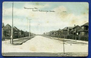 East Chicago Indiana in Beacon Street view old postcard