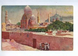 233096 EGYPT CAIRO Tombs of Mameluks Vintage postcard