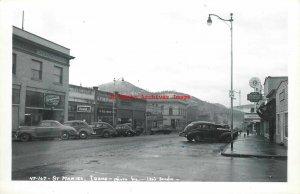 ID, Saint Maries, Idaho, RPPC, Street Scene,40s Cars,Leo's Studio Photo No 47167
