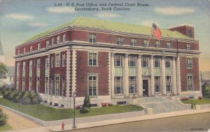 SPARTANBURG, South Carolina; U. S. Post Office & Federal Court House, 30-40s