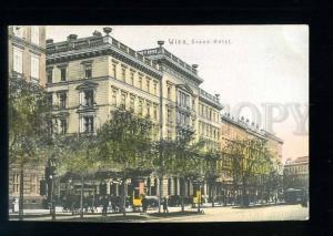 213609 AUSTRIA WIEN Grand Hotel Vintage tinted postcard