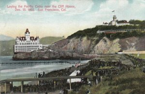 SAN FRANCISCO, California, 1902; Laying the Pacific Cable near Cliff House
