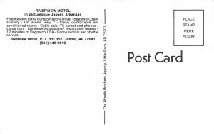 Jasper Arkansas 1960s Postcard Riverview Motel on Scenic Highway 7