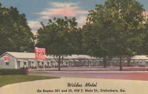 STATESBORO , Georgia , 30-40s ; Wildes Motel