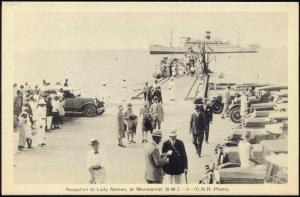 Montserrat, B.W.I., Reception to Lady Nelson Steamer, Cars (1920s)