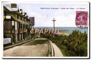 Old Postcard Trouville Queen of Beaches Calvary