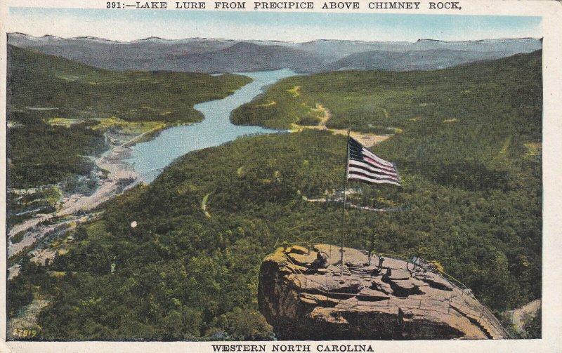 NORTH CAROLINA, 1900-1910s; Lake Lure From Precipice Above Chimney Rock