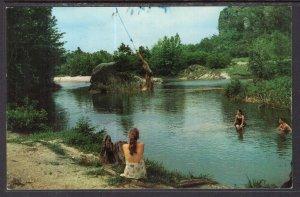Swimming in Frio River,Concan,TX