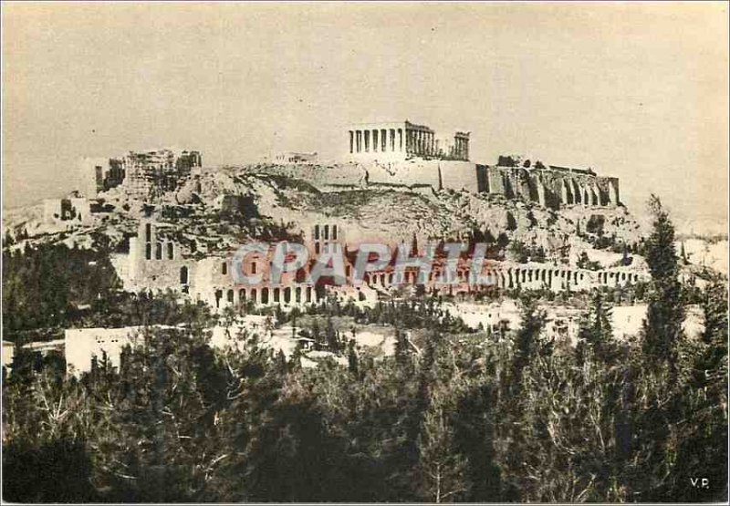 Postcard Modern View of the Acropolis