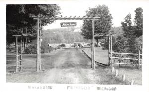 C53/ Muskegon Michigan Mi Real Photo RPPC Postcard c50s Maranatha Camp Jesus
