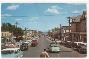 Old Orchard Street Cars Old Orchard Beach Maine 1950s postcard