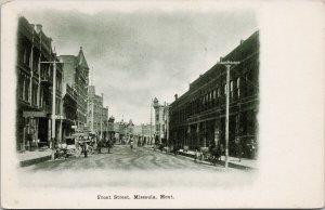 Front Street Missoula MT Montana c1908 Postcard E67