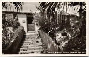 St. George's Historical Society Library Bermuda Unused Real Photo Postcard F52