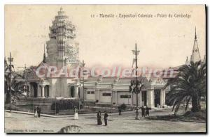 Old Postcard Marseilles Colonial Exhibition Palace of Cambodia