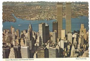 USA, Lower Manhattan and Financial District, New York City, 1970s Postcard
