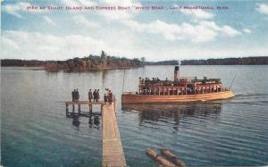 C-1910 Pier Shady Island Express Boat Postcard Lake Minnetonka Minnesota 12333