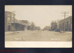 RPPC SHELDON MISSOURI DOWNTOWN MAIN STREET SCENE STORES REAL PHOTO POSTCARD