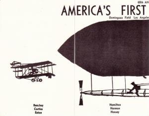 Set of 4 Commemorative PCs Form Early Airship Blimp, 60th Anniversary America...