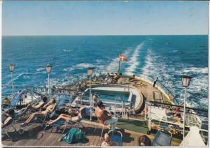 DFDS Seaways, Swimming pool on board M.S. DANA CORONA Postcard