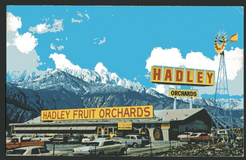 CA CABAZON Hadley Fruit Orchards Interstate 10 - Older Cars - pm1978 - Chrome