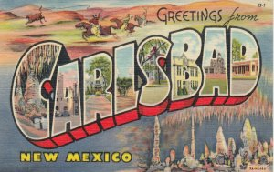 Large Letter CARLSBAD New Mexico, 1930-40s