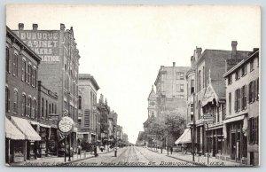 Dubuque IA~Nesler & Hammell~Big Street Clock~Embalmer & Undertaker~Cabinets 1910