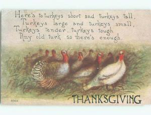 Pre-Linen thanksgiving LOTS OF TURKEYS IN THE FIELD k8929