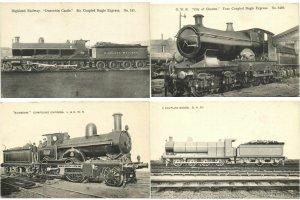CHEMIN DE FER LOCS RAILWAY TRAINS ROYAUME-UNI 40 CPA Pre-1940 (L3389)