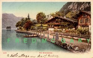 1910 Switzerland PC: Animated Shoreline of Brienzersee