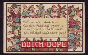 P1620 1915 postcard dutch got hitched togedder yet?