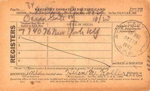 Registry Dispatch Receipt Card 1942