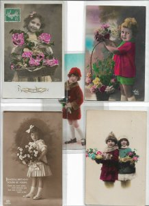 Kids Theme RPPC Postcard Lot of 10 01.11