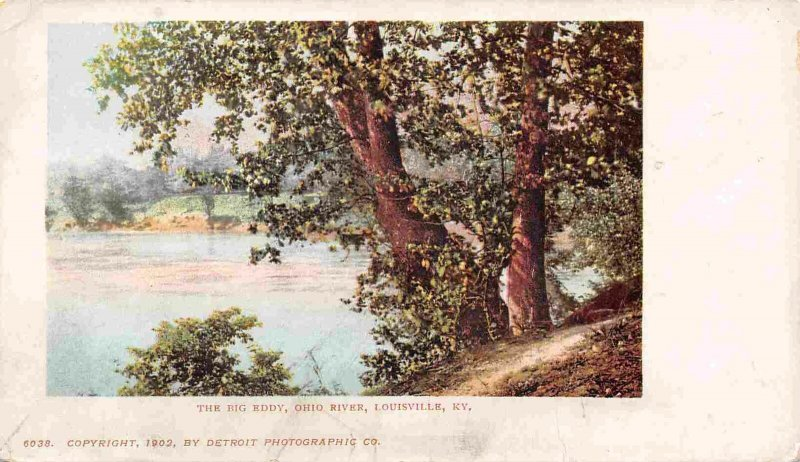 The Big Eddy Ohio River Louisville Kentucky 1902c Private Mailing Card postcard